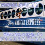 WDWとDCLの送迎バス【マジカルエクスプレス】と【クルーズ社のバス】とは?