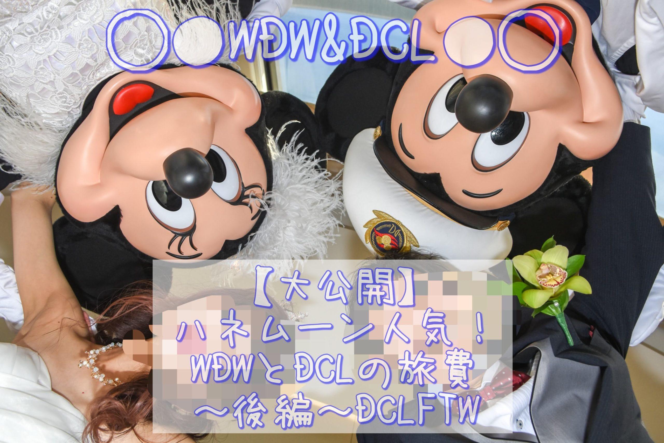 【大公開】ハネムーン人気!WDWとDCLの旅費~後編~DCLFTW セレモニー代金に含まれてる物、かかった料金大公開