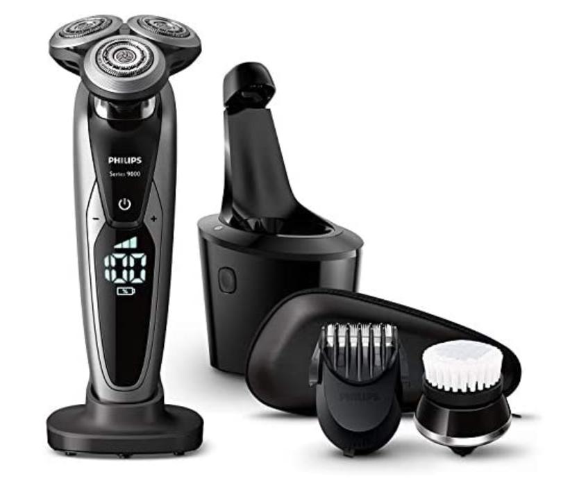 フィリップス 9000シリーズ メンズ 電気シェーバー 72枚刃 回転式 お風呂剃り & 丸洗い可 トリマー・洗顔ブラシ・洗浄充電器付 S9732A/33