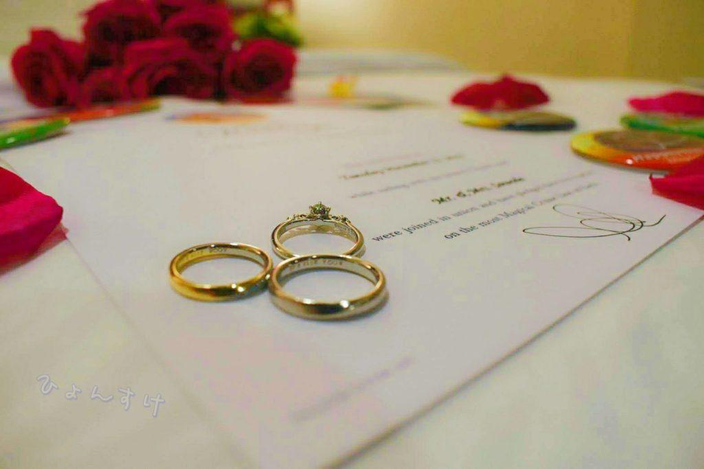 プロポーズ成功し夫婦に