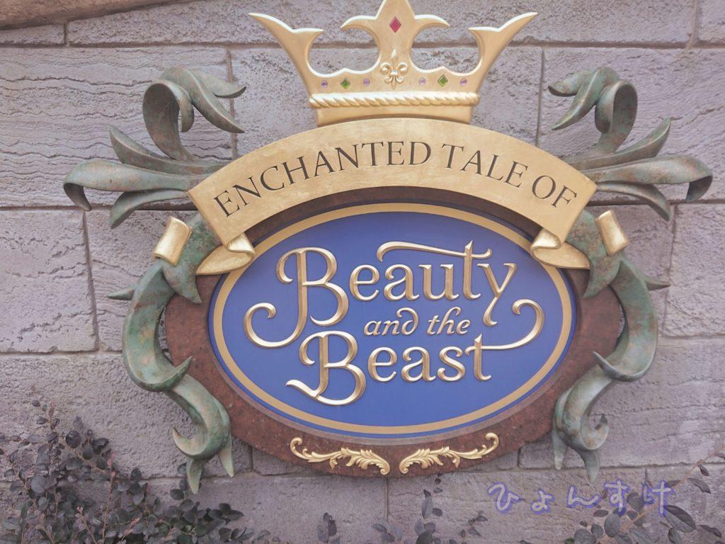 美女と野獣エリア:野獣のお城付近の花壇