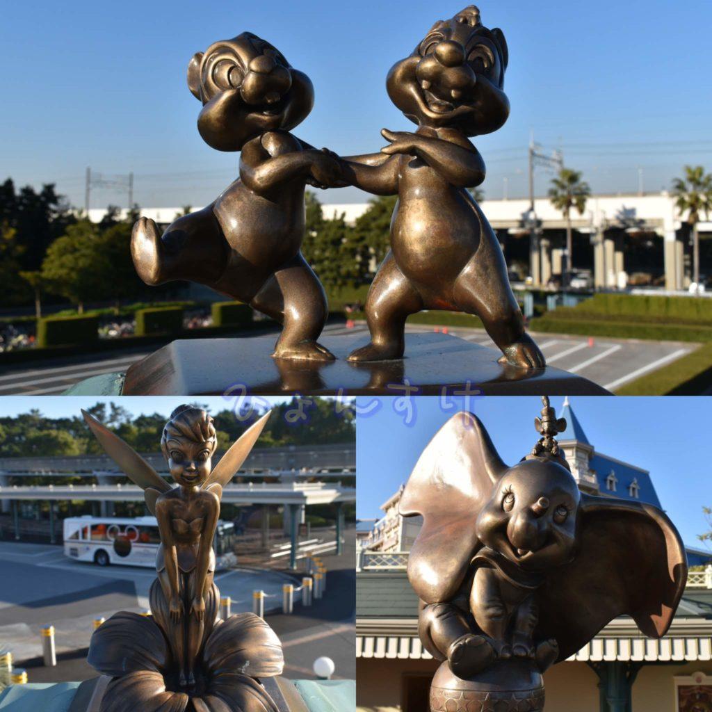 ペデストリアンデッキ ブロンズ像