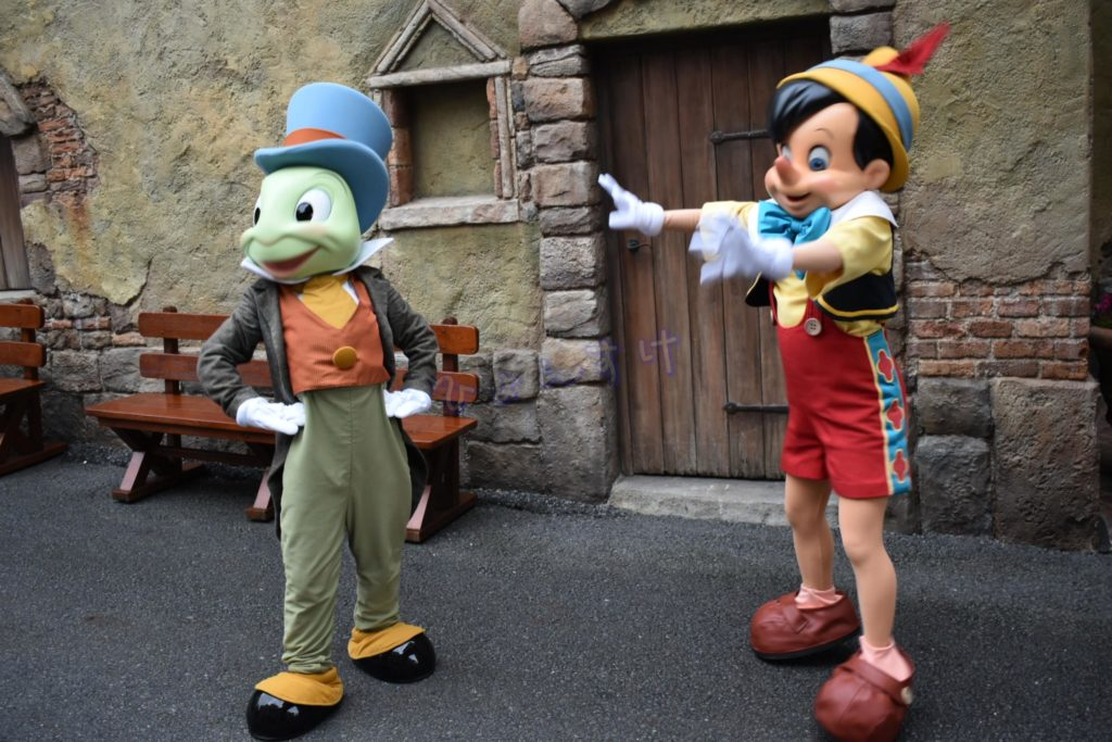 ディズニーシー:キノピオ&ジミニー