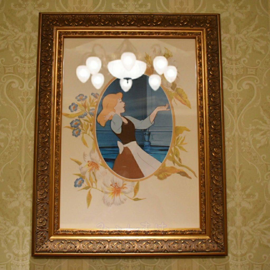 ディズニーランドホテル 絵画 シンデレラ