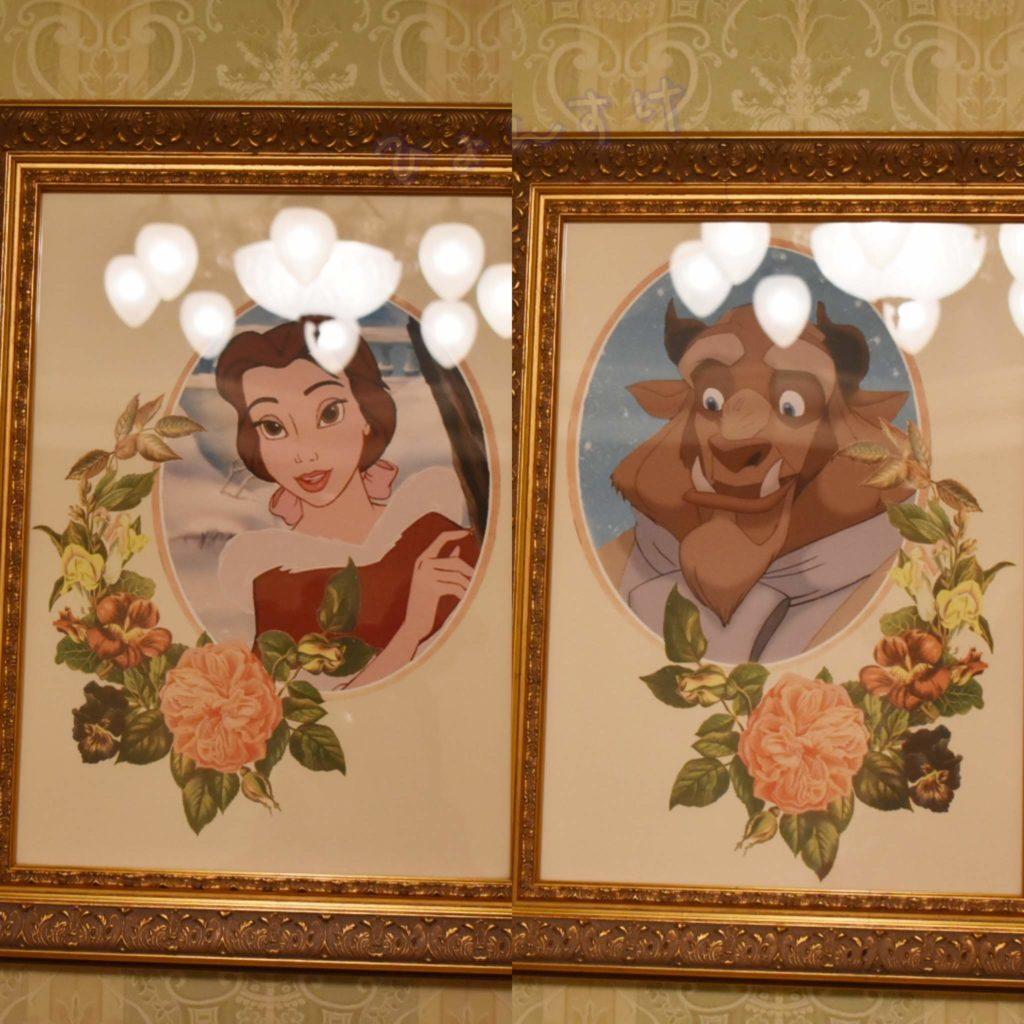 ディズニーランドホテル 絵画 ベル ビースト