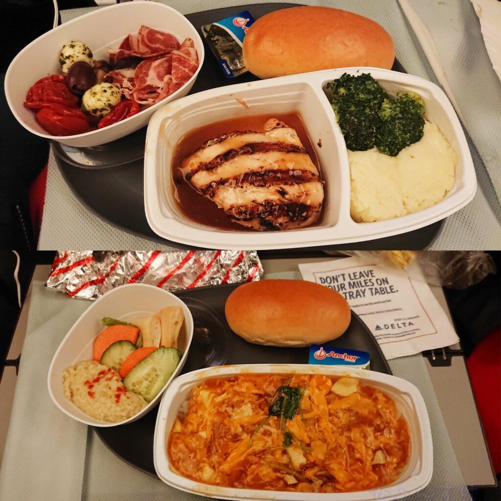 デルタ航空で成田→オーランドへ 機内食