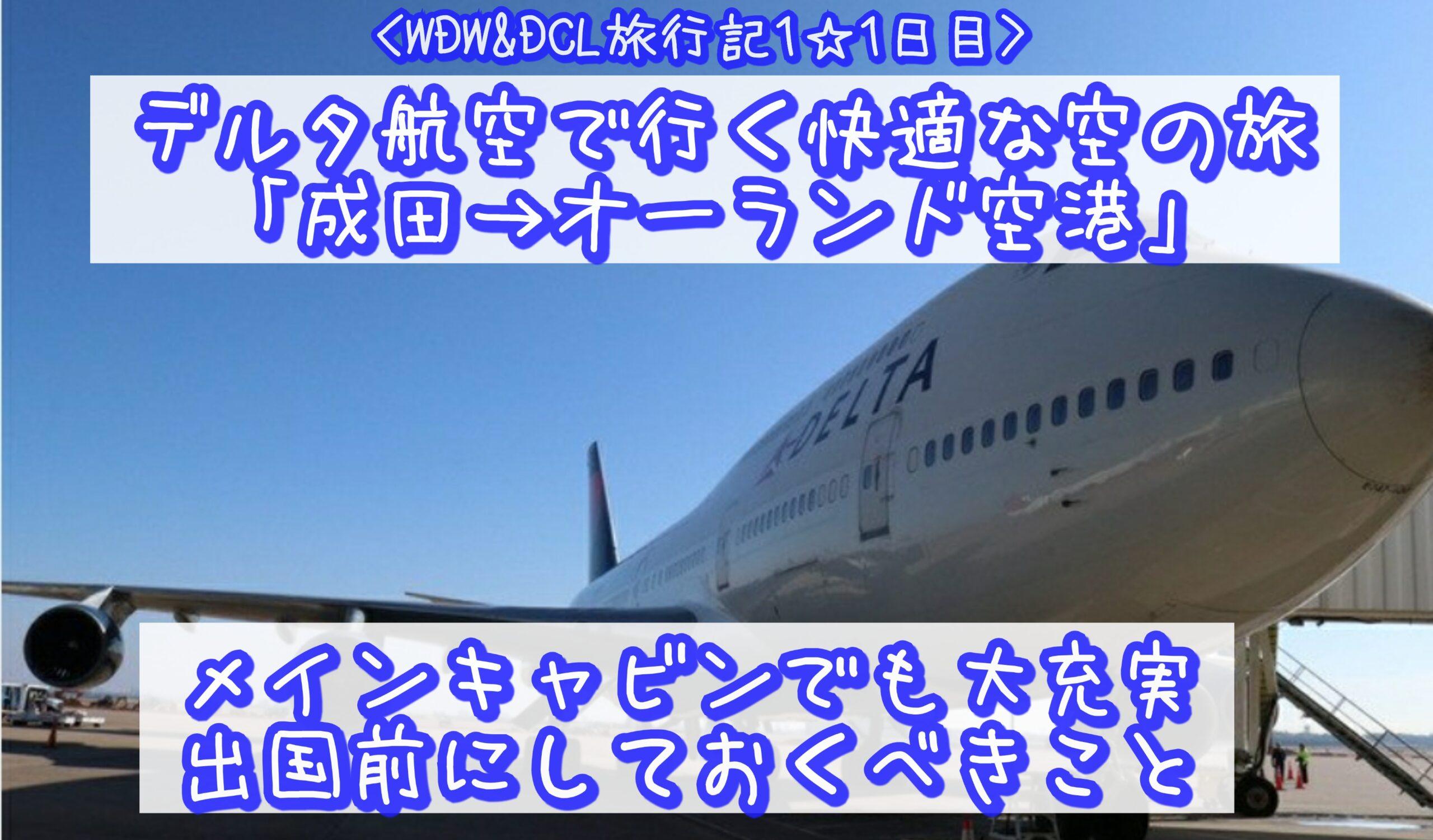 【WDW&DCL】デルタ航空で行く快適な空の旅「成田→オーランド空港」メインキャビンでも大充実 出国前にしておくべきこと
