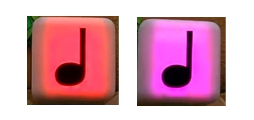 USJ マリオエリア 音符ブロック 赤とピンク