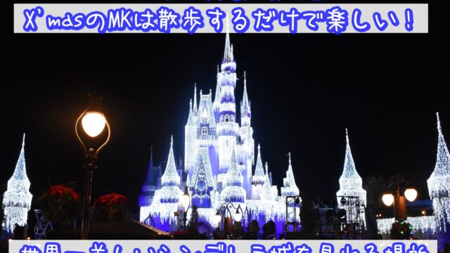【WDW&DCL】XmasのMKは散歩するだけで楽しい!世界一美しいシンデレラ城を見れる場所